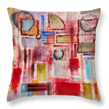 Rainy Panes Throw Pillow