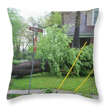 Throw Pillow featuring the photograph Raised Sidewalks by Kelly Awad