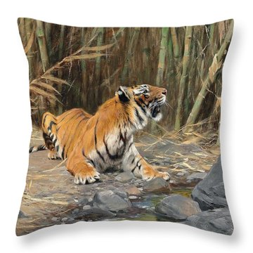Raising His Voice Throw Pillow by Wilhelm Kuhnert