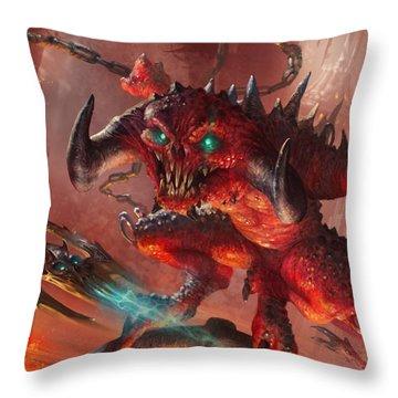 Rakdos Cackler Throw Pillow by Ryan Barger