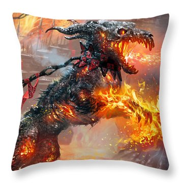 Rakdos Ragemutt Throw Pillow