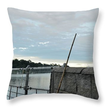 Throw Pillow featuring the photograph Rake Rests Itself After A Hard Days Work by Imran Ahmed