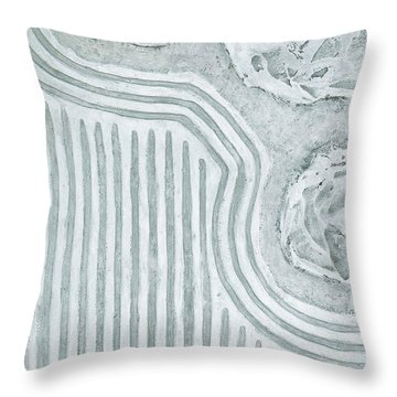 Raked Zen Garden Throw Pillow
