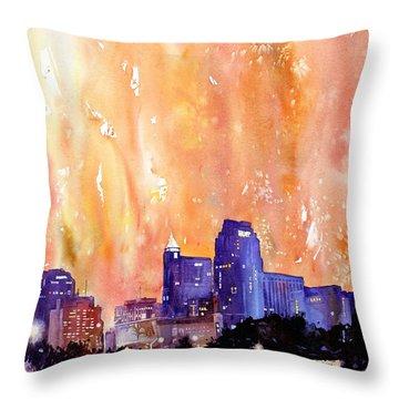 Raligh Skyline Sunset Throw Pillow