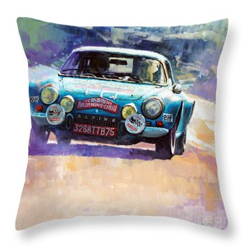 Rally Monte Carlo 1972 Alpine-renault A110 1600  Throw Pillow