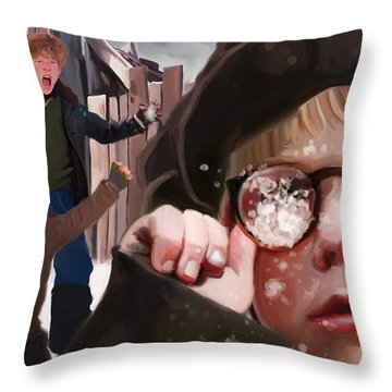Ralphie Snaps Throw Pillow