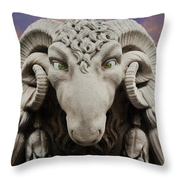 Ram-a-sees Throw Pillow