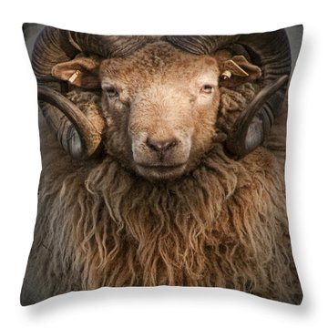 Ram Portrait Throw Pillow