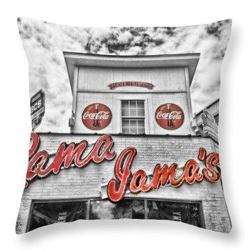 Rama Jama's Throw Pillow by Scott Pellegrin
