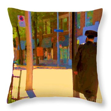 Ramacieri Soligo Building Supplies Rue Van Horne Outremont Montreal Street Scene Art Carole Spandau Throw Pillow by Carole Spandau