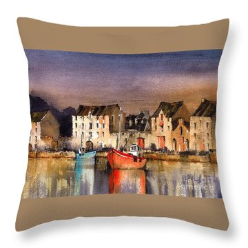 Ramelton Dusk  Donegal Throw Pillow