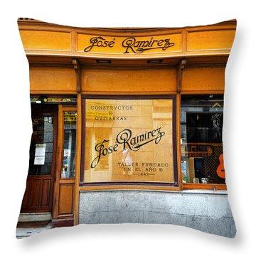 Ramirez Guitars Workshop Throw Pillow