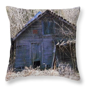 Throw Pillow featuring the photograph Ramshackled by Nick Kirby