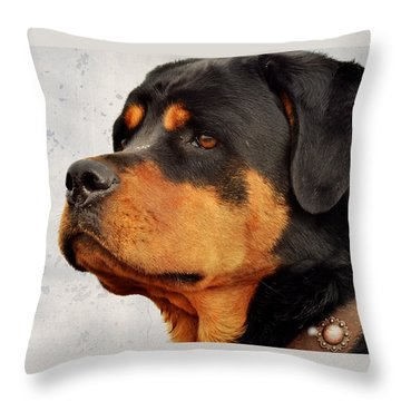 Ranch Dog On Watch Throw Pillow
