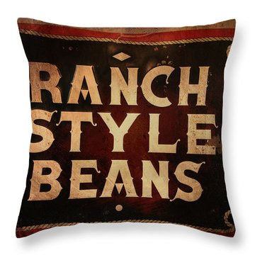 Ranch Style Beans Throw Pillow by Toni Hopper