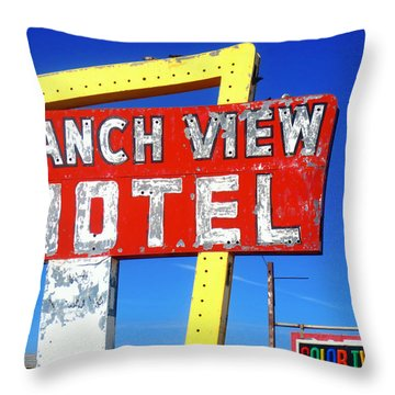 Ranch View Motel Throw Pillow