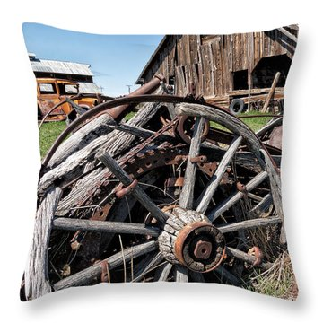 Ranch Wagon Throw Pillow