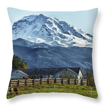 Ranch With A View Throw Pillow
