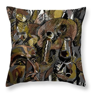 Throw Pillow featuring the digital art Ranchera by Clyde Semler