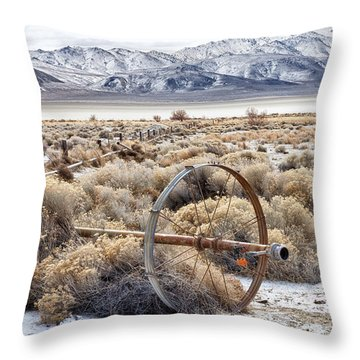Ranching The Black Rock Throw Pillow