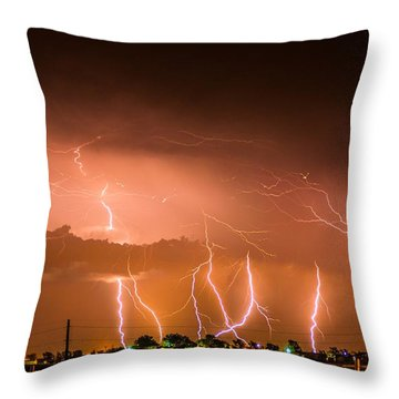 Randall Lightning Throw Pillow