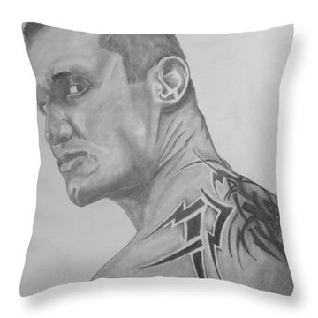 Randy Orton Throw Pillow by Justin Moore