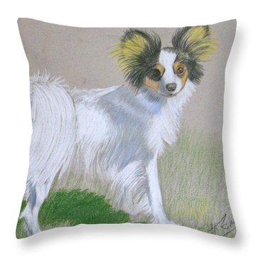 Randy Throw Pillow by Ruth Seal