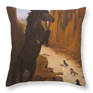 Range War Throw Pillow
