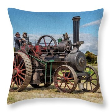 Ransomes Steam Engine Throw Pillow