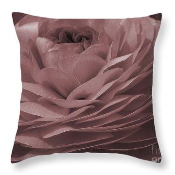 Throw Pillow featuring the photograph Ranunculus Red by Jean OKeeffe Macro Abundance Art