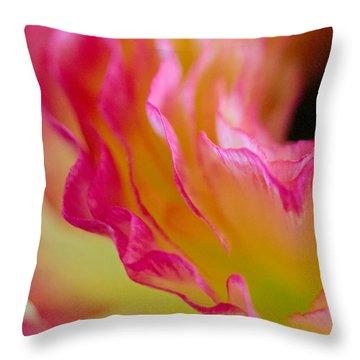 Ranunculus Ruffles Throw Pillow