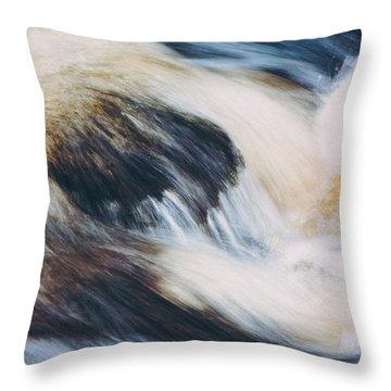 Rapids In Wilderness Throw Pillow by Ari Salmela