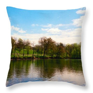 Rappahannock River I Throw Pillow