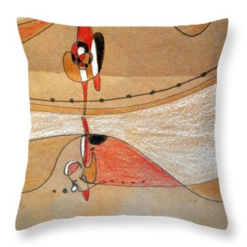 Rappeling Throw Pillow