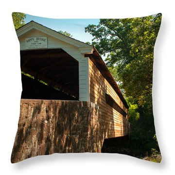 Rapps Covered Bridge Throw Pillow