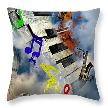 Rapture Celebration Throw Pillow by Davina Washington