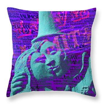 Rapture Throw Pillow by Richard Farrington