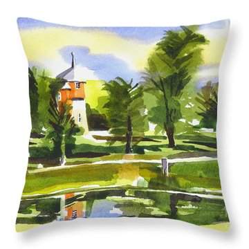 Rapunzels Tower Keep Throw Pillow