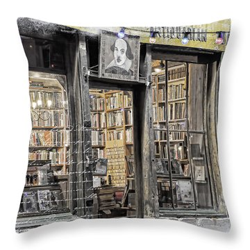 Rare Books Latin Quarter Paris France Throw Pillow