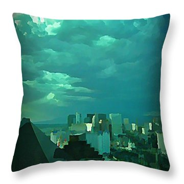 Rare Clouds Over Vegas Throw Pillow by John Malone