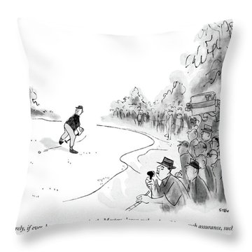 Rarely, If Ever, Has Any Contender In The Masters Throw Pillow