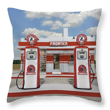 Rarin To Go - Frontier Station Throw Pillow