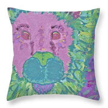 Throw Pillow featuring the painting Rarrrrrrr by Yshua The Painter