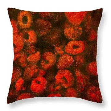 Raspberries Throw Pillow by Alexander Senin