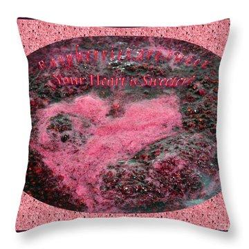 Raspberries And Your Sweet Heart 01 Throw Pillow by Ausra Huntington nee Paulauskaite