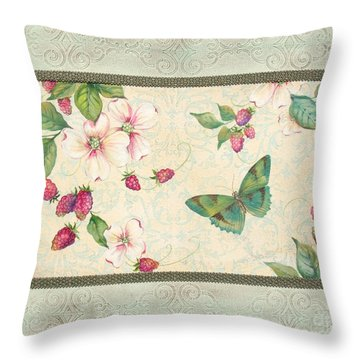 Raspberry Bliss Throw Pillow by Jean PLout