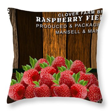 Raspberry Fields Forever Throw Pillow by Marvin Blaine