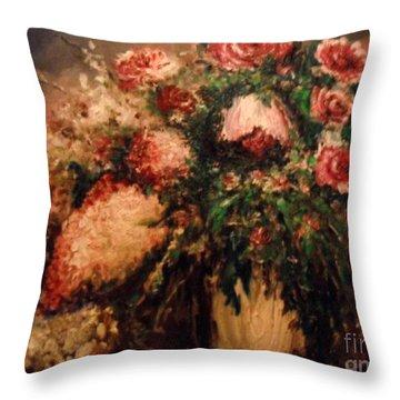 Raspberry Jammies Throw Pillow