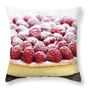 Raspberry Tart Throw Pillow by Elena Elisseeva