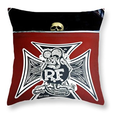 Rat Fink Big Daddy Roth Throw Pillow